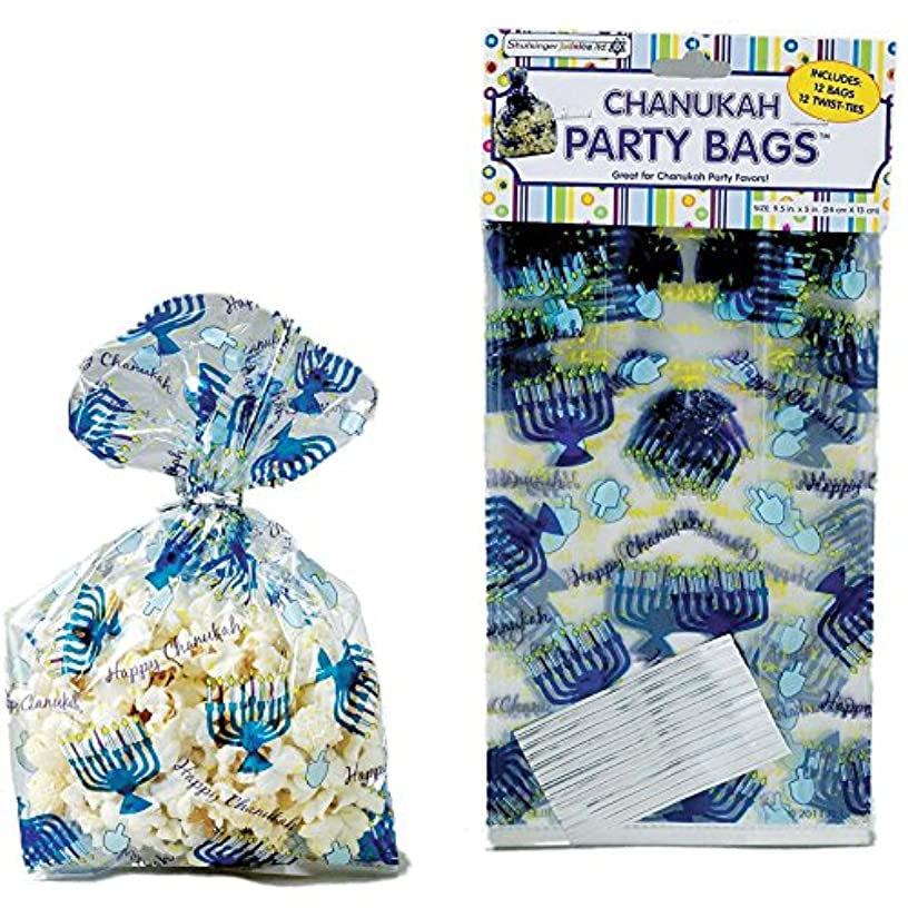 Chanukah Cellophane Party Bags with Twist Ties (1)