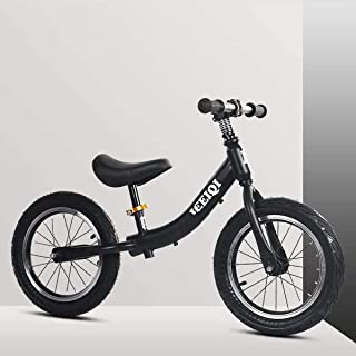 14 Inches Balance Bike, No Pedal Walking Balance Training Bicycle with Air Tires Adjustable Seat Height,for Kids 3 To 7 Ye...