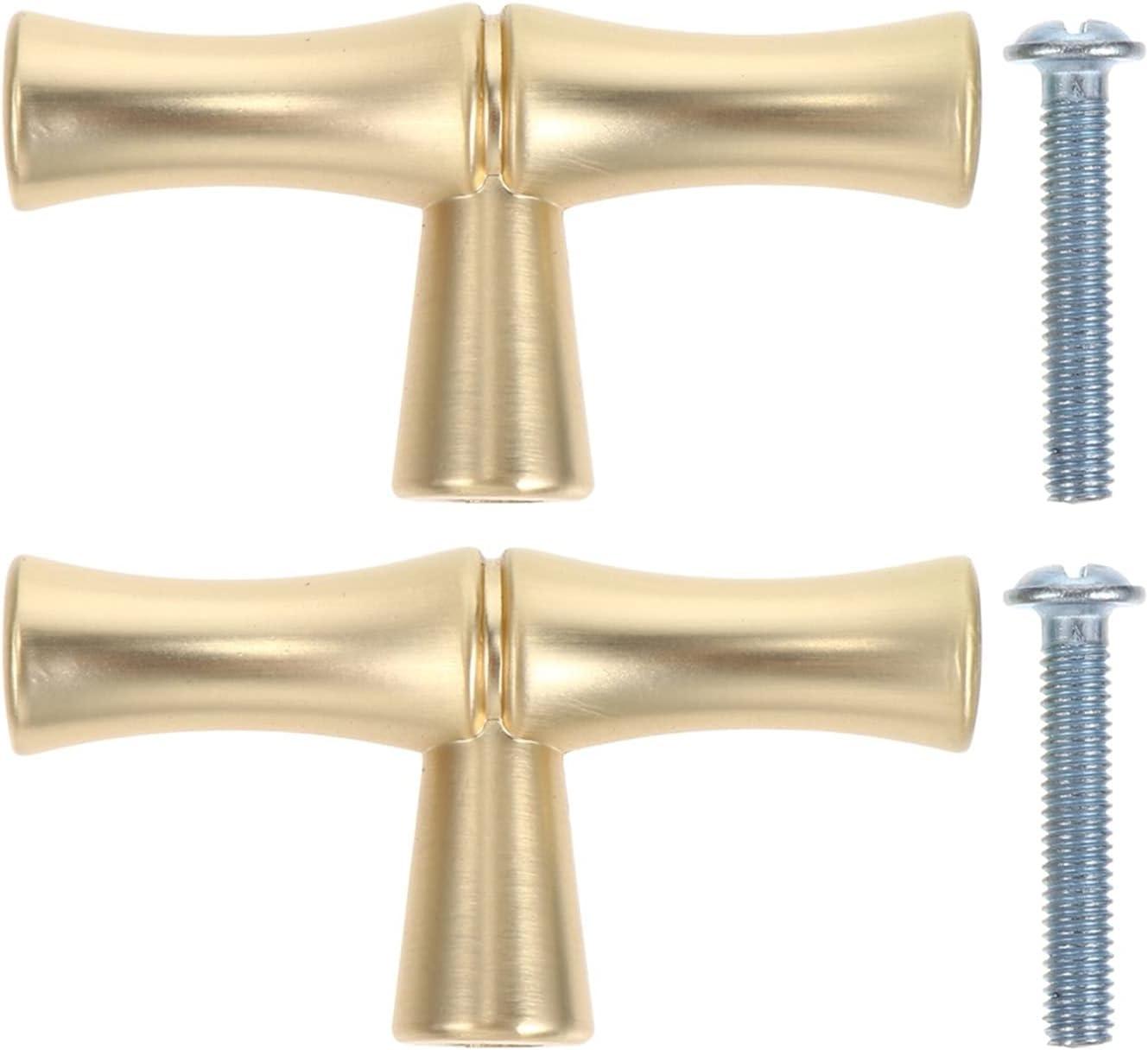 2Pcs Drawer Cabinet Handle Home Durable Furniture Las Vegas Mall Gold Under blast sales Knob Ring
