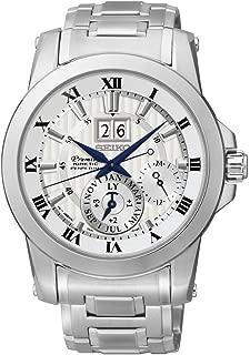 Seiko SNP091 Men's Premier Kinetic Perpetual Stainless Steel Watch