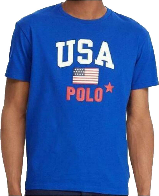 Polo Ralph Lauren Mens Big & Tall USA Flag Logo T-Shirt