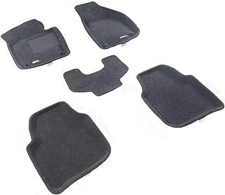 Car Floor Mats Fit Skoda SuperB 4D 2009- 3D MAXpider 5 pcs set Custom All-Weather Carmats Classic Polyester Looped Carpet Gray