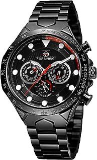 432 Mechanical Men Watch 10 Meter Waterproof Luxury Business Luminous Wristwatch Date Week 24 Hours Male Watch with Three ...
