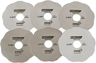Micro Jig AS-6 BLADEMATCH Arbor Shims for Table Saw and Alignment, Small, Stainless Steel