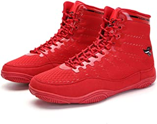 Men's Boxing Shoes, Profession Wrestling Fighting Training Boots Lightweight Breathable Buffer Unisex Squat Fitness Sneakers