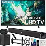 Samsung UN65RU8000 65-inch RU8000 LED Smart 4K UHD TV (2019) Bundle with Deco Gear Soundbar with Subwoofer, Wall Mount Kit, Deco Gear Wireless Keyboard, Cleaning Kit and 6-Outlet Surge Adapter