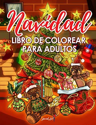 Navidad Libro de Colorear para Adultos: Entra en la Magia de la Navidad con más de 50 relajantes dibujos de Renos, Papás Noeles, Trineos, Árboles de ... de nieve y mucho más! (Regalos de Navidad)