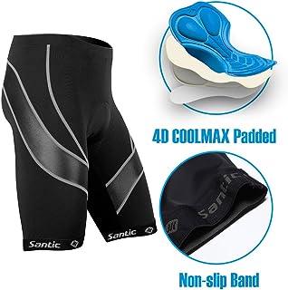Santic Pantalones Cortos de Ciclismo para la Bicicleta con Badana,con Acolchadito,con Almohadilla para Hombres - Light Velocity