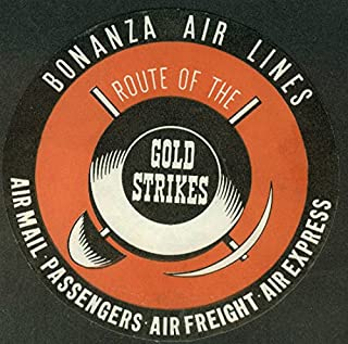 Amazon.com: bonanza - Advertising: Collectibles & Fine Art on air florida route map, southwest airtran route map, southern airways route map, british airways route map, south west route map, britannia airways route map, south west airlines seat map, braniff international route map, south west airline from seattle map, southwest airlines flight routes map,