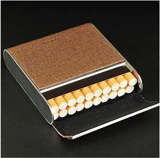 KYK Personalized Cigarette Case, 20 Packs, Creative Fabric Portable Cigarette Case, Men and Women Personality Flip Ultra-Thin Cigarette Box, Fashion Cigarette Pack Cigarette Holder (Color : Brown)