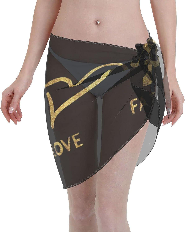 FSERSANHW Faith Hope Love Chiffon Beach Sarong Women Short In Super-cheap stock Cover