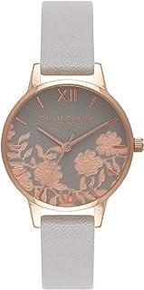 Olivia Burton Womens Quartz Watch, Analog Display and Leather Strap OB16MV58