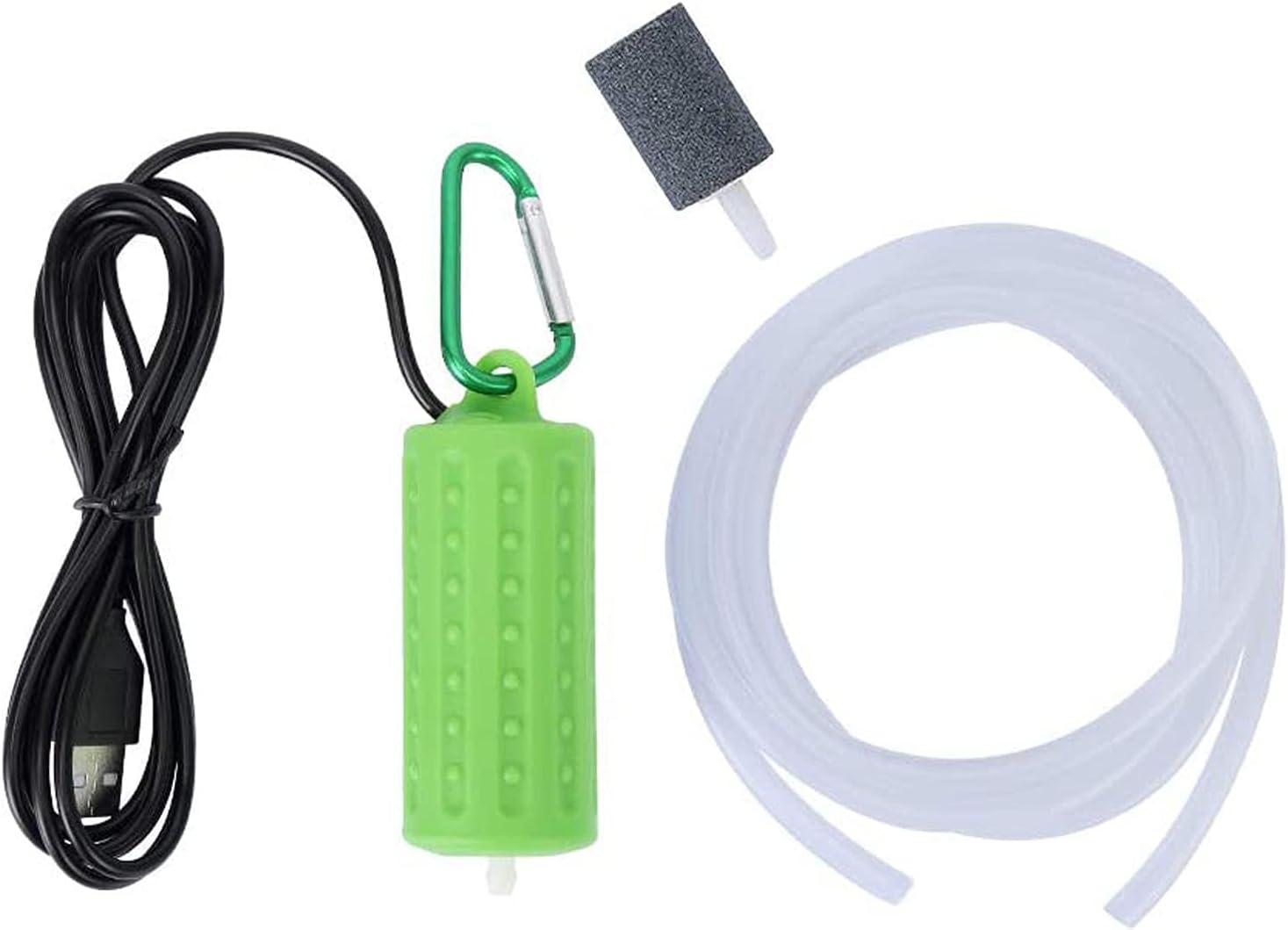 ZEACCT Mini USB Portatile Acquario Fish Tank Ossigeno Pompa Ad Aria Mute Risparmio Pesci Pompa Ad Aria Pompa Di Ossigeno Serbatoio Ossigeno Muto Accessori Con Pompa Ad Aria E Tubo