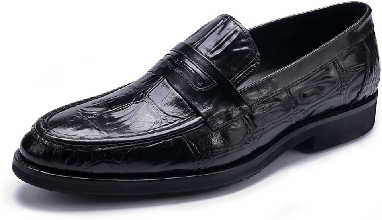 HAPPYSHOP TM Men's Fake Crocodile Leather Fashion Moccasins Slip On shoes Comfort Driving shoes