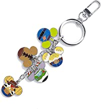 YOURNELO Cute Cartoon Character Metal Ornaments Keychain Bag Purse Pendant