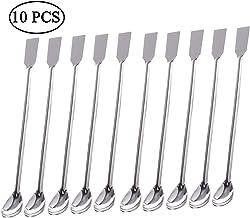 Sunnyglade - 10 cucharas de acero inoxidable 2 en 1 para