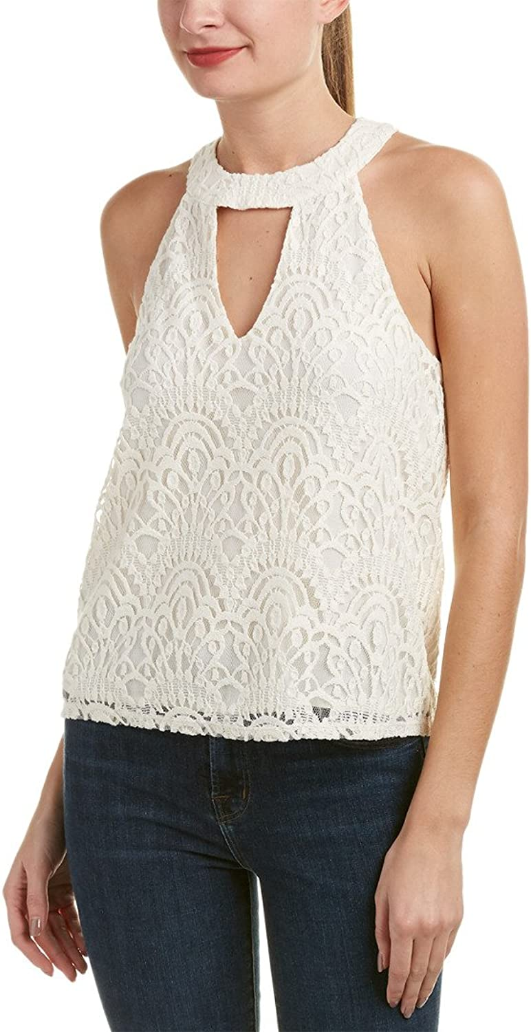 Ella Moss Womens Amberline Lace Tank Blouse