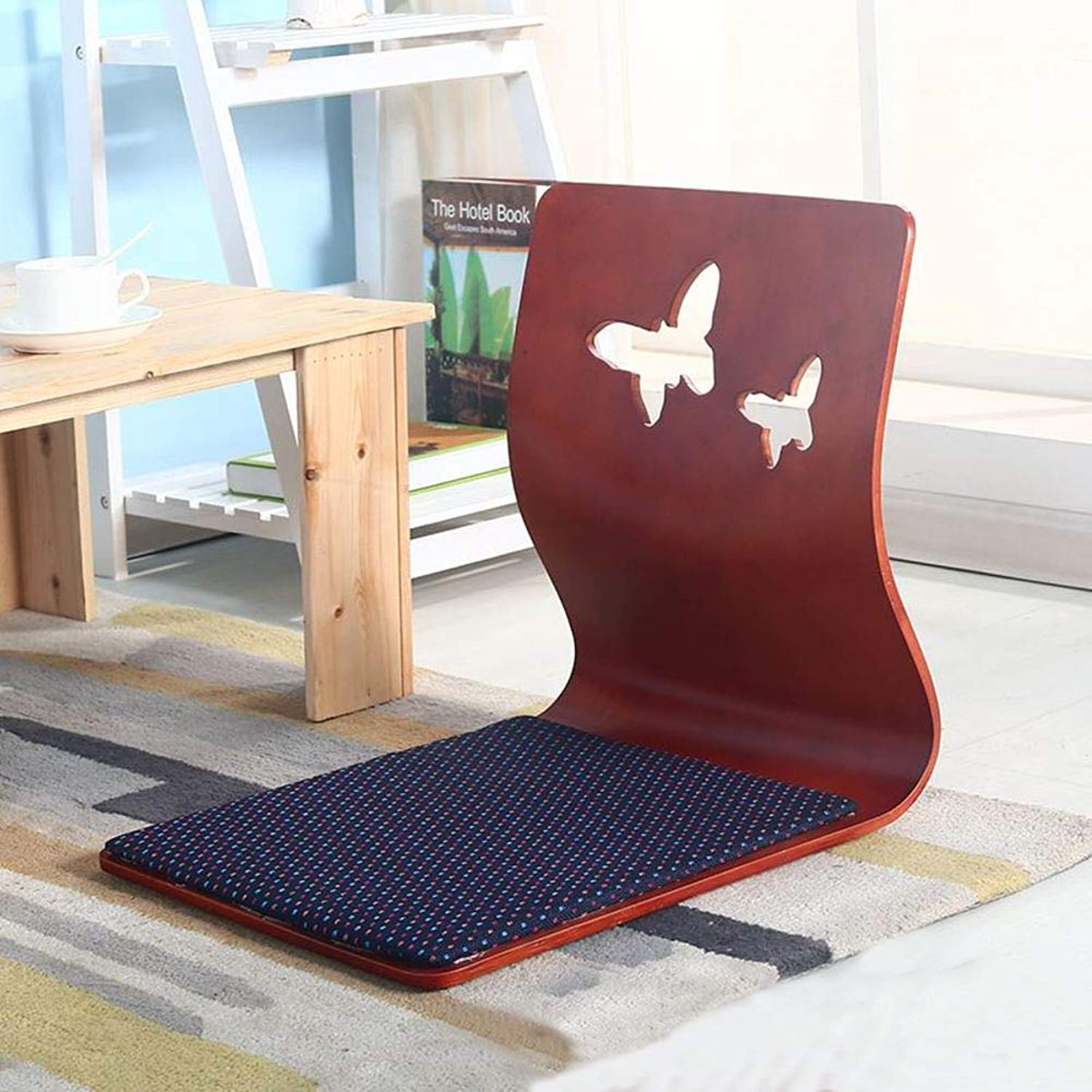 Foldable Floor Chair,Padded Floor Chair with Back Support for Video-Gaming Reading-A 46x37cm(18x15inch)