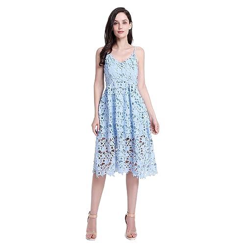 Light Blue Lace Dress: Amazon.com