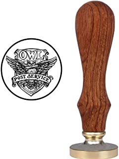 VSECUON Stamp for Harry Potter Hedwig Owl Post Service Badge Wax Seal Stamp Creative Mysterious Retro Stamp Maker Great for Gift HP Fans Birthday Christmas Hogwarts Themed Party (Hedwig)