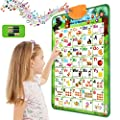 FUNCOWO Toddler Electronics Interactive Alphabet Wall Chart, Preschool Toys for Daycare Kids,Kindergarten Boys and Girls, Fun Gifts ABC and 123s Musical Learning Educational Developmental Toy from FUNCOWO
