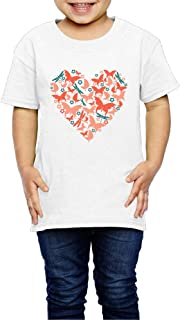 好き 蝶 いいね チョウ ハード 子供服 キッズ 半袖 Tシャツ 綿100% 3 Toddler