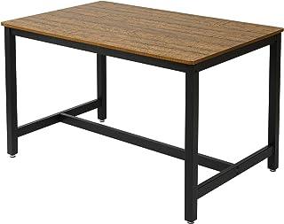 Meerveil Table Cuisine, Table de Salle à Manger pour 4-6 Personnes, 120 * 75 * 75cm Table à dîner Rectangulaire, Style Ind...