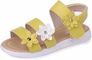 Sandales Enfant Fille Sandale Eté Bebe Fille Douces et Respirantes Fleur Sandales Chaussures Plage Confortable Fleur Fille...