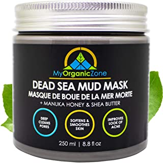 Dead Sea Mud Mask - Face & Body Deep Pore Cleansing, Acne Treatment, Anti Aging & Anti Wrinkle, Organic Natural Facial Cla...