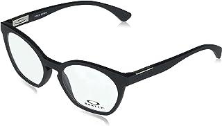 Oakley Women's OX8168 Tone Down Round Prescription Eyewear Frames, Satin Black/Demo Lens, 50mm