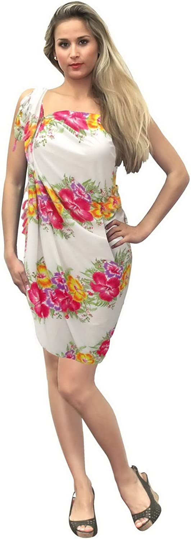 LA LEELA Women's Plus Size Sarong Skirt for The Beach Cover Ups Wrap Full Long B
