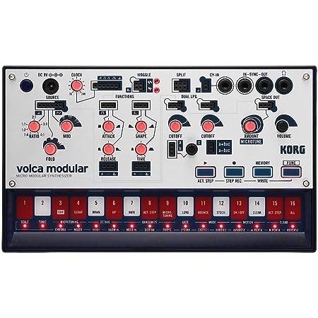 KORG モジュラー シンセサイザー volca modular パッチング ケーブル付属 電池駆動 スピーカー内蔵 ヘッドフォン使用可 どこでも使えるコンパクトサイズ