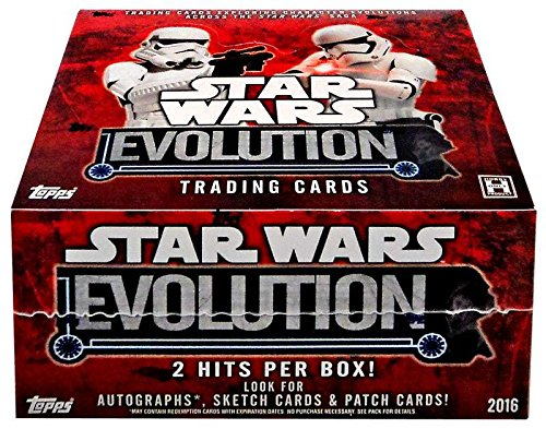2016 Topps Star Wars EVOLUTION Collector's Trading Cards Hobby Box - 24 packs of 8 cards each!
