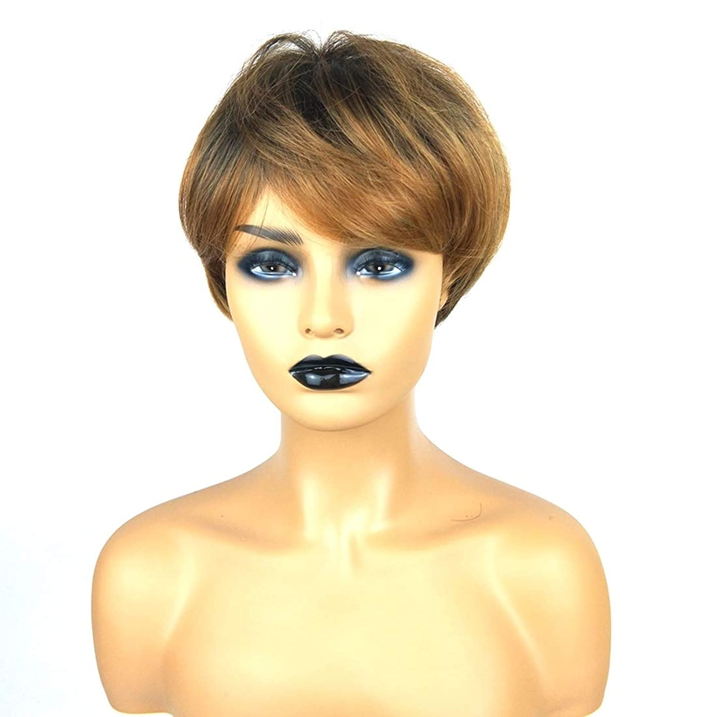 応援する証明する割り当てますSummerys ショートボブの髪の毛のかつら本物の髪として自然な女性のための合成かつらとストレートウィッグ
