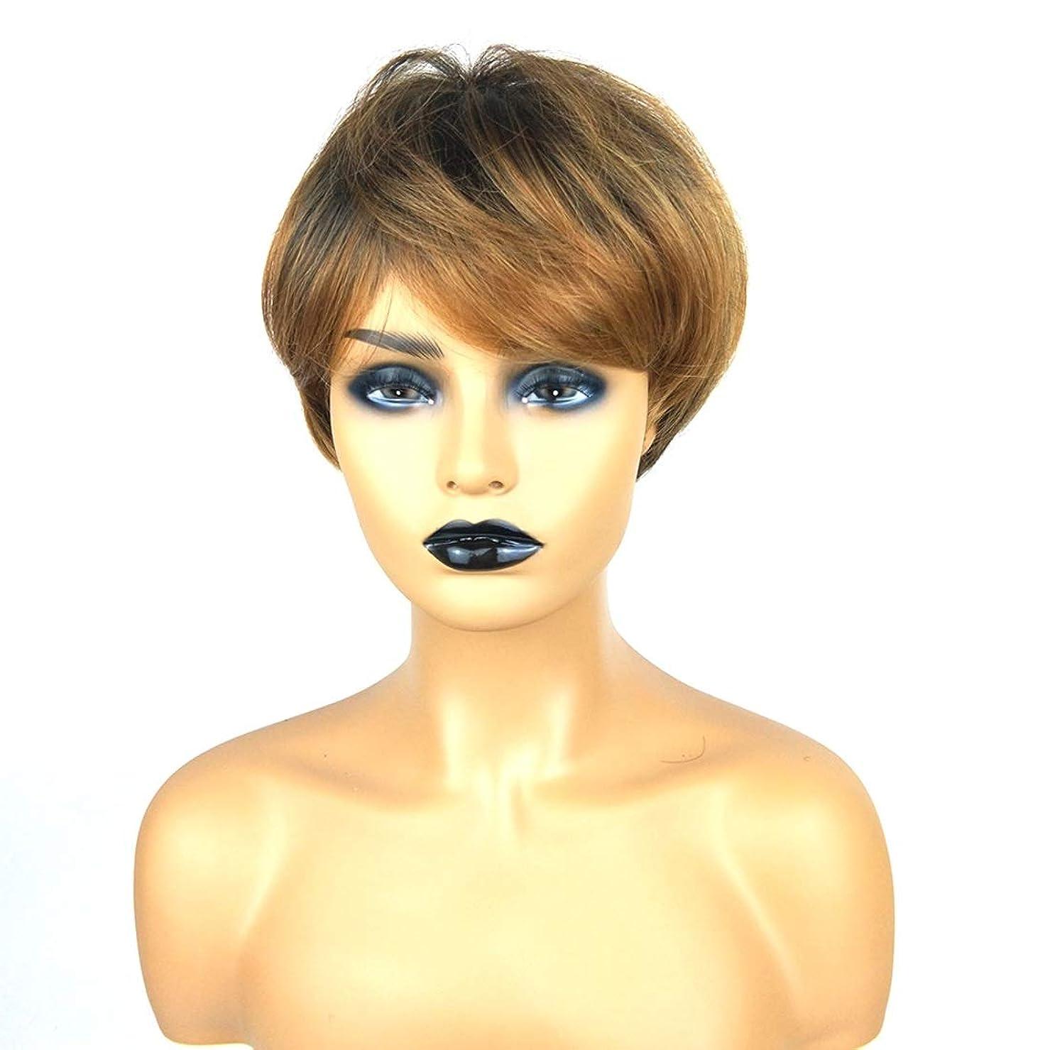 ノミネートとは異なり眉Kerwinner ショートボブの髪の毛のかつら本物の髪として自然な女性のための合成かつらとストレートウィッグ