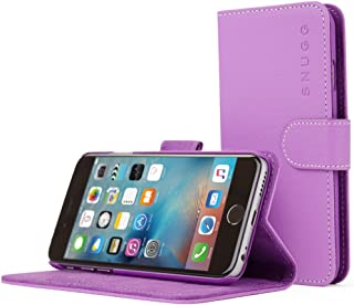 iPhone 6s Case, Snugg8482; - Premium Stylish Leather Wallet Cover Case (Purple) with, Nubuck Fiber Interior, Credit Card Holder & Flip Stand for The New Apple iPhone 6s