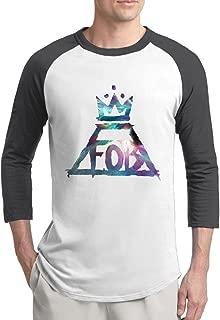 Men Fall Out Boy Fob Rock Band 3/4 Sleeve Baseball Tshirt Raglan Jersey Shirt