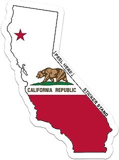 CALIFORNIA State Map Flag bumper sticker decal 6