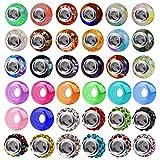 AIEX 100 Abalorios de Gran Agujero Europeas Cuentas de Cristal murano Diamantes Vidrio Surtidas Colores Suministros hacer adulto collares y pulseras niña Amuletos para abricación Artesanías Joyería