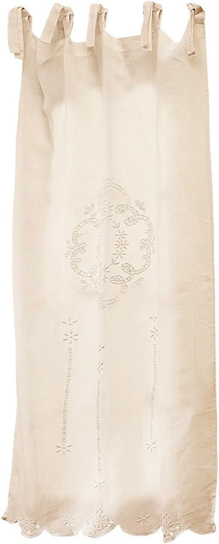 Loberon Scheibengardine Josephina, Leinen, H B ca. 160 80 80 80 cm, Creme B00OL3285M fe69c0