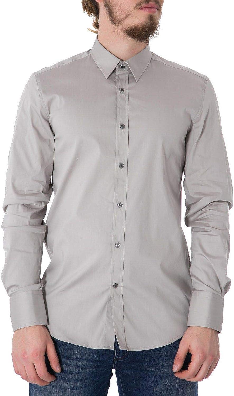 Antony Morato Men's MMSL00375FA450001GREY Grey Cotton Shirt