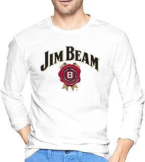 Jim Beam Men Round Neck Long Sleeve Pullover T-Shirt