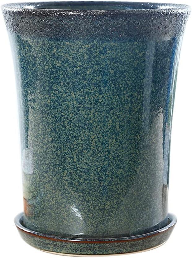 Juudoiie Ceramic Flowerpot Extra Large Green online Austin Mall shopping Pot Plant Succulent