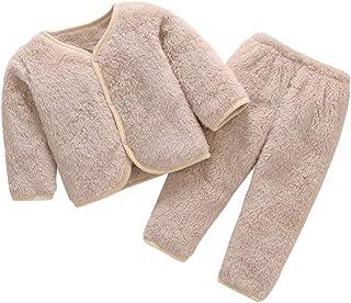 DEBAIJIA Bebé Ropa de Casa 0-3T Infantil Homewear Niños Pijama Niña Ropa de Dormir Niño Camisones Invierno Franela Calentar