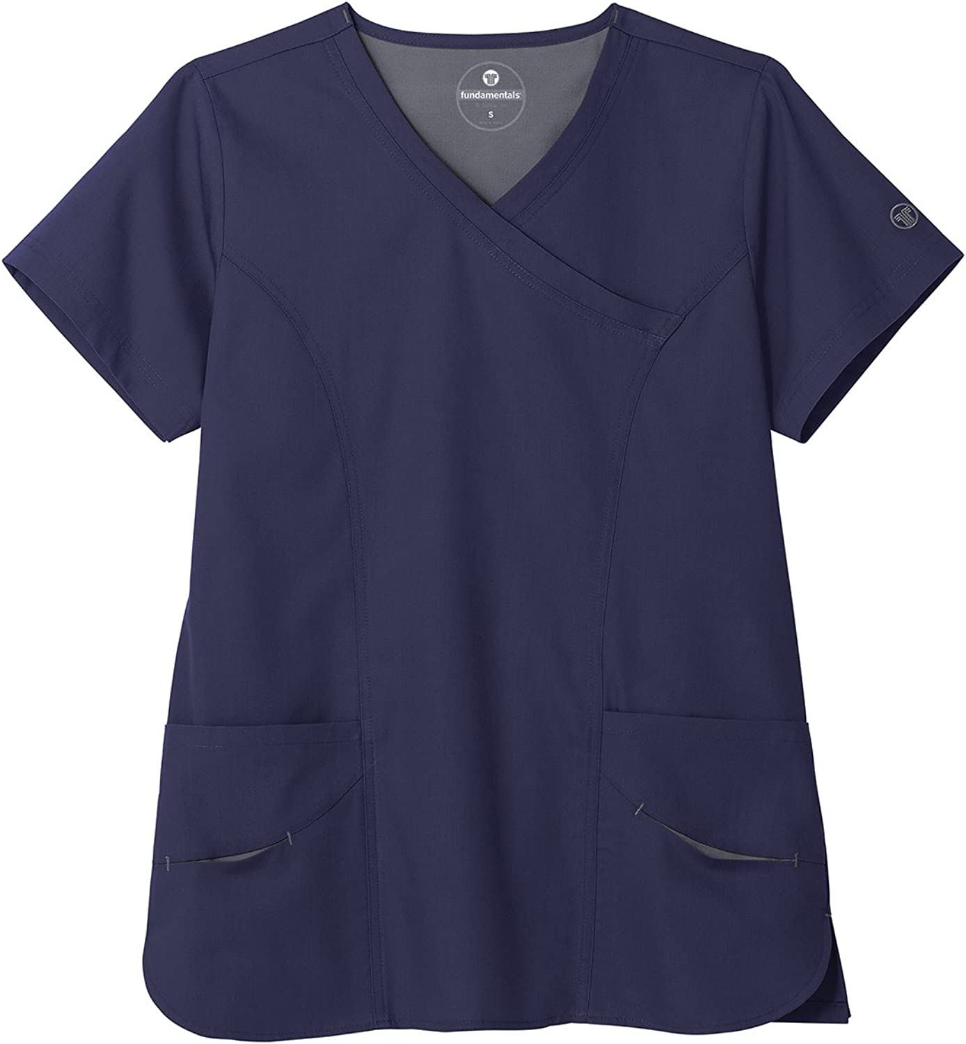 White Swan Fundamentals 14371 Women's Modern Wrap 5Pocket Scrub Top
