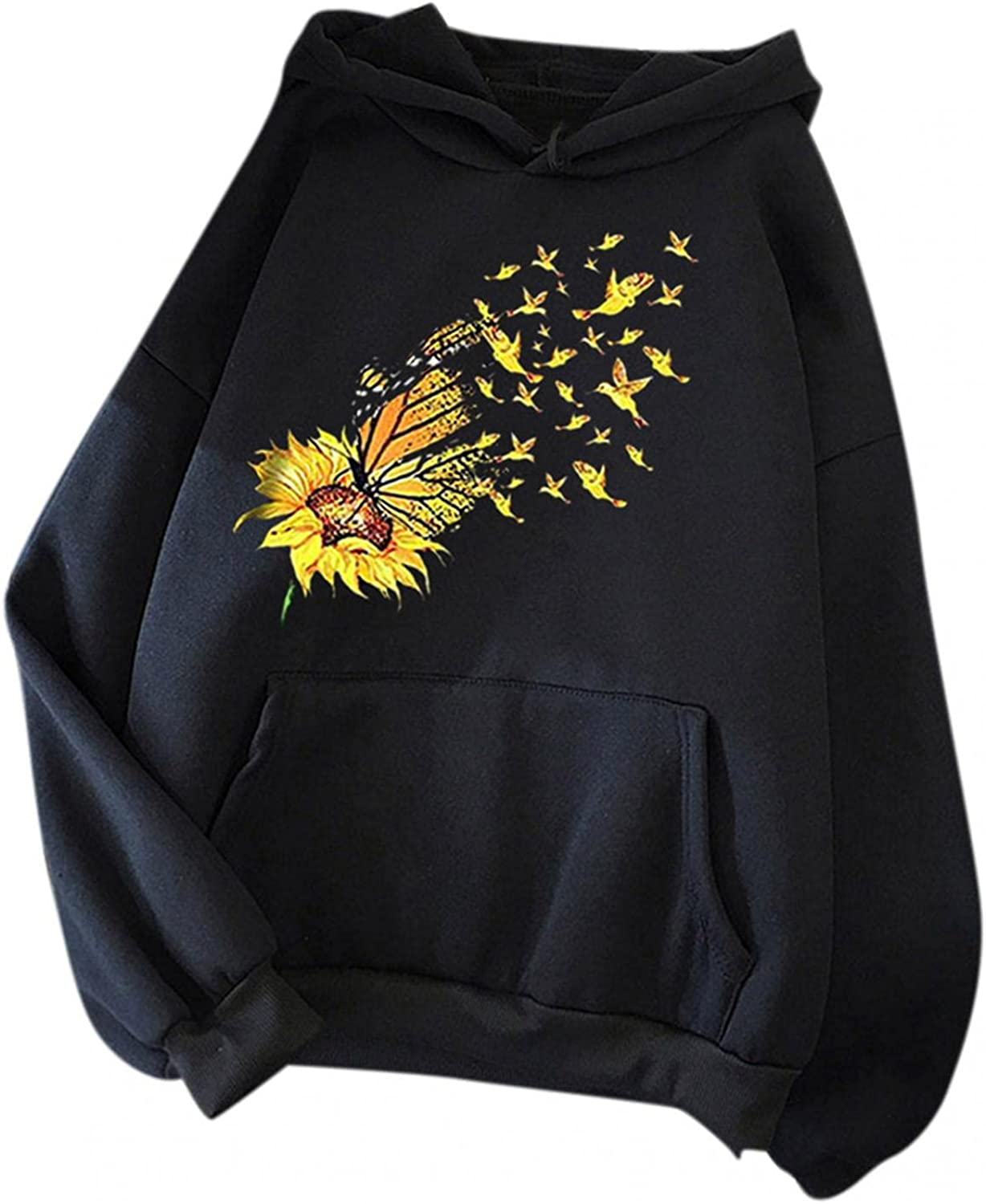 UOCUFY Womens Hoodies, Womens Casual Plus Size Pullover Hoodies Cute Printing Long Sleeve Sweatshirts Autumn and Winter