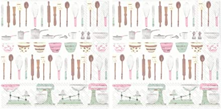 Scout and Company Kitchen Tools Cooking Baking Utensils Cocktail Napkins - Cute Designer Cocktail Napkins 3-ply, 40 count...