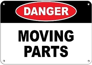 moving parts hazard sign