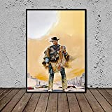 WSHIYI Western Poster Clint Eastwood Abstrakte Leinwand