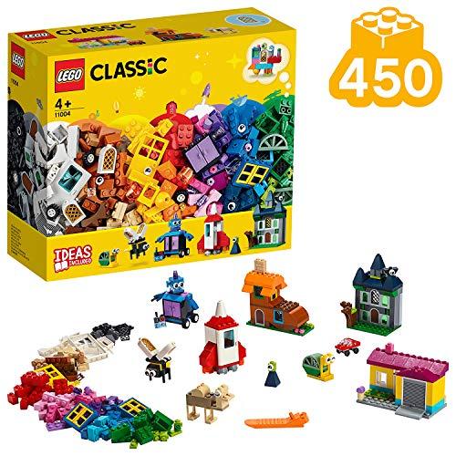 LEGO 11004 Classic Bausteine - kreativ mit Fenstern, Bauset mit bunten Bausteinen
